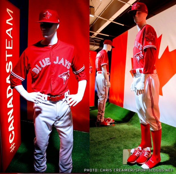 Blue Jays Red Uniform full