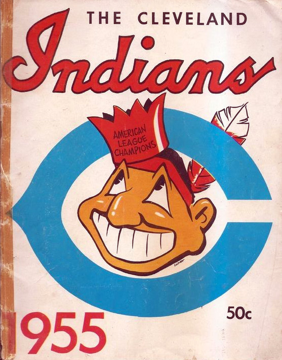 Chief Wahoo on an Indians program, 1955 (via Pinterest)