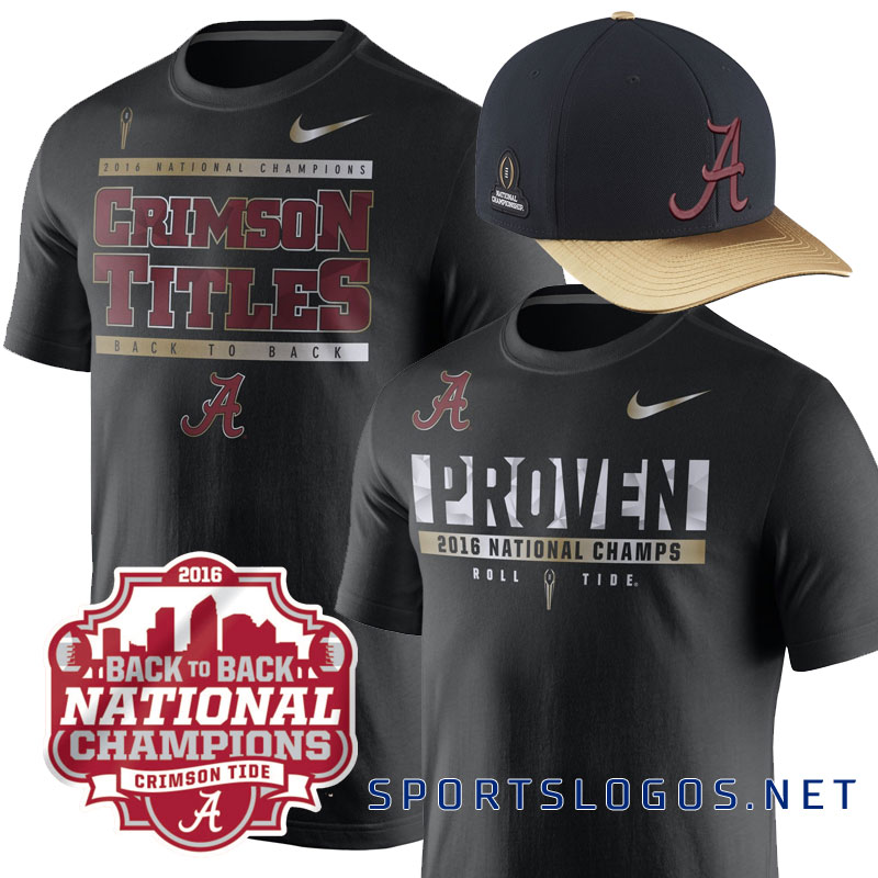 Crimson Titles? Alabama 2016 National Phantom Champs Merchandise