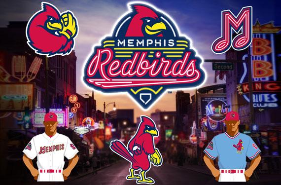 Memphis Redbirds Logos Uniforms