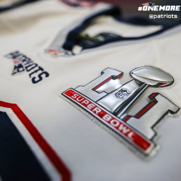 Super Bowl LI patriots patch
