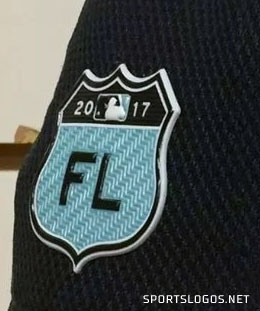 Side patch with 2017 on the shield