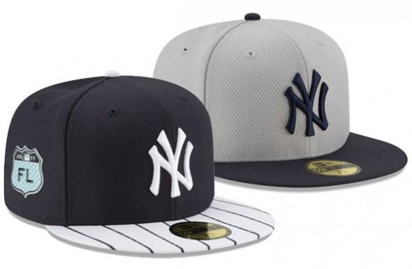 2017 MLB Spring Training Caps - NY Yankees