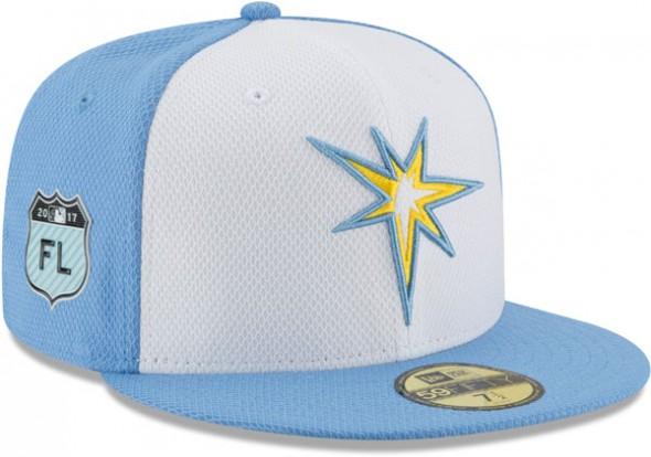 2017 MLB Spring Training Caps - Tampa Bay