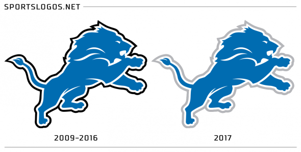 Detroit Lions Logo Compare