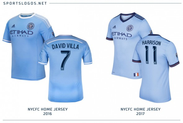 NYCFC Compare Jersey