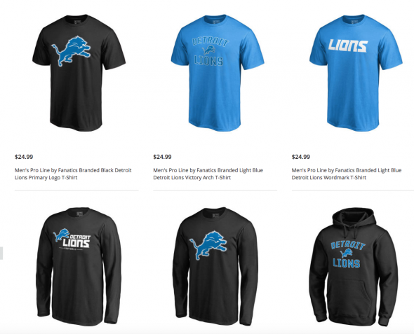 Lions Shop Shows Black