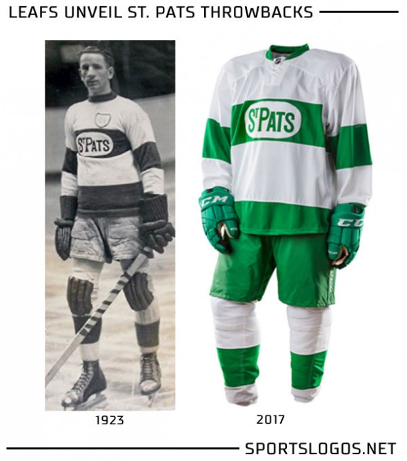 Toronto St Pats Throwback Uniform Compare
