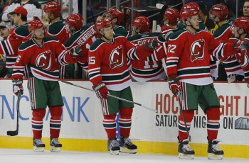 Devils Throwback uniforms 2015 Jim O'Connor-USA TODAY Sports