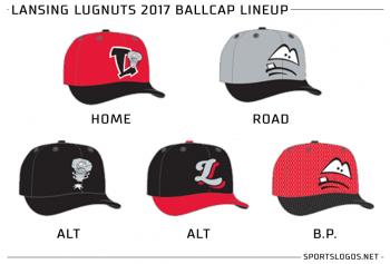 Lansing Lugnuts 2017 Baseball Caps