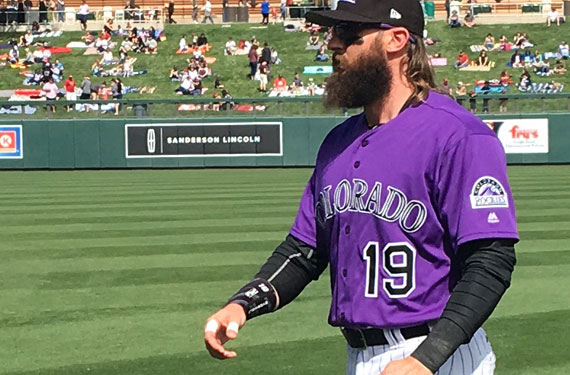 Rockies players weigh in on new shade of purple