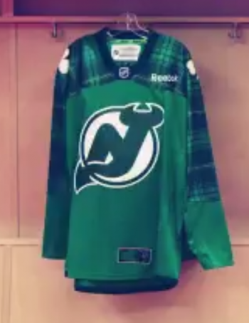 Green warmup jerseys will also be worn