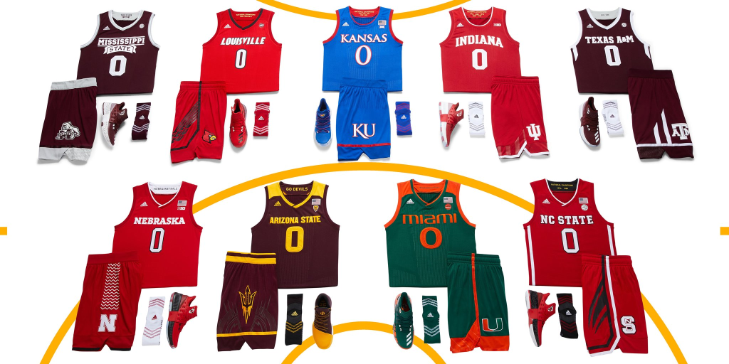 Adidas releases postseason uniforms for their college basketball ...