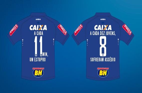 Brazilian soccer team Cruzeiro spreads awareness on International Women's Day