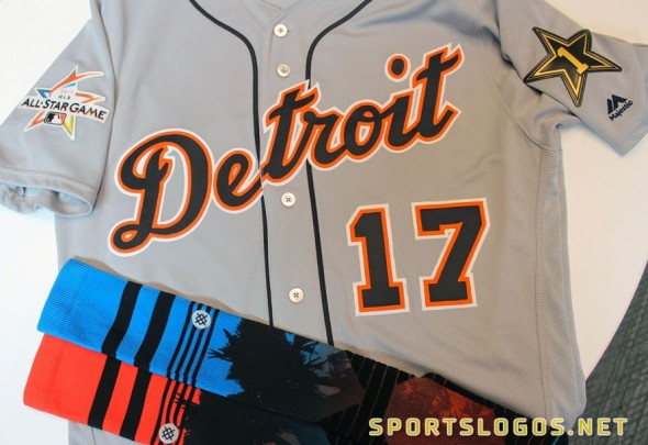 2017 Detroit Tigers MLB All-Star Game Uniform