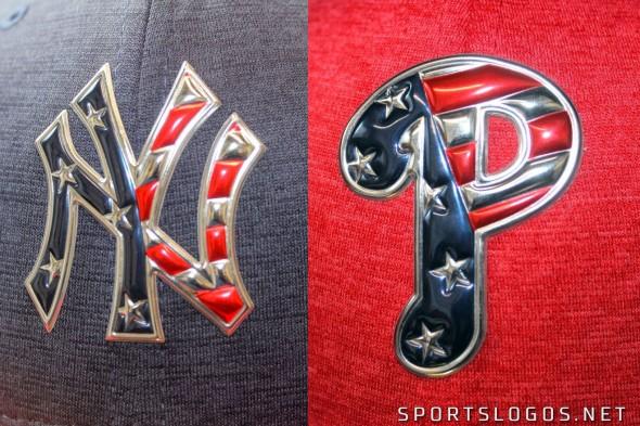 2017 MLB 4th of July Cap Logo Detail