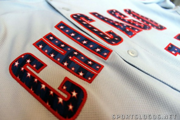 2017 MLB 4th of July Team Jersey Wordmark Logo Detail
