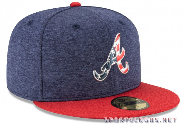 Atlanta Braves 2017 Independence Day Cap