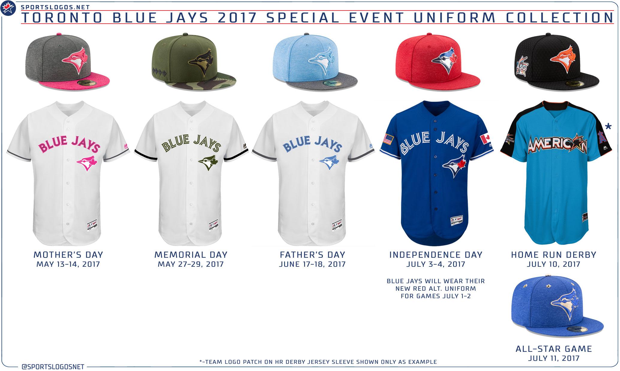 8f971caa668 Blue Jays 2017 Special Event uniforms.   Torontobluejays