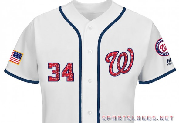 Washington Nationals 2017 Independece Day Jersey