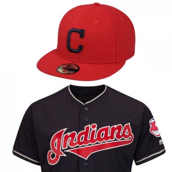indians red cap blue jersey 2017