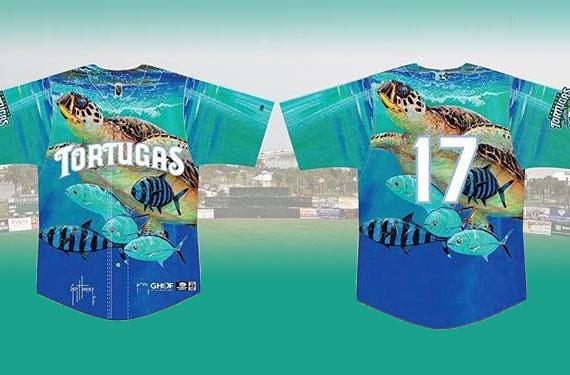Daytona Tortugas jerseys feature artwork of Guy Harvey