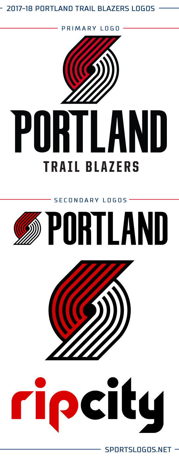 Trail Blazers New Logos