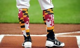 Orioles Maryland Socks Evan Habeeb-USA TODAY Sports