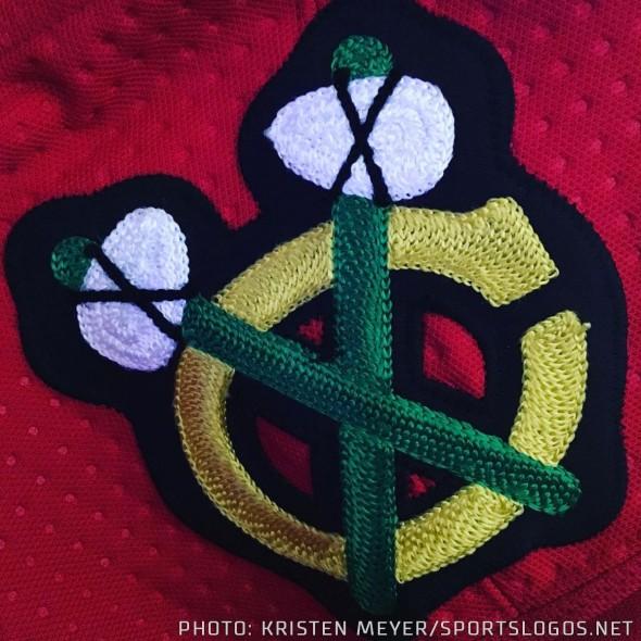 Blackhawks Chain Stitching