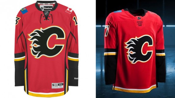 Flames Compare Jerseys