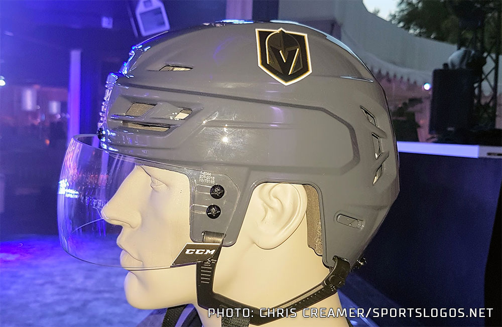 golden knights grey helmet chris creamer s sportslogos net news