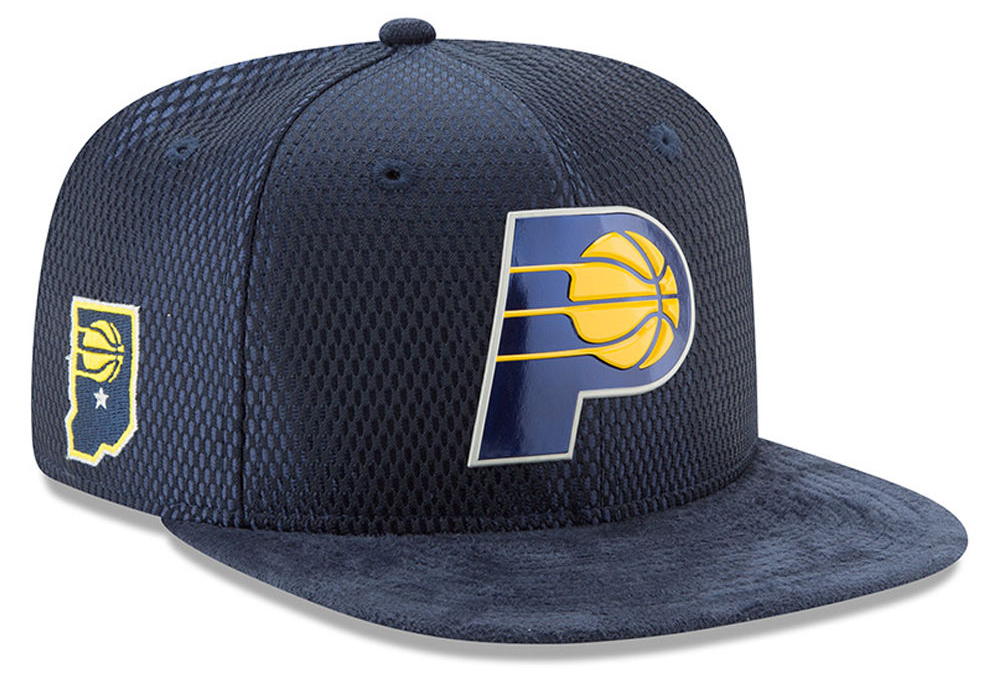 Spurs and Pacers New Logos Unveiled on 2017 NBA Draft Hats  2fe0a3a6efc