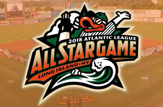 2018 Atlantic League ASG logo is (Long Island) ducky