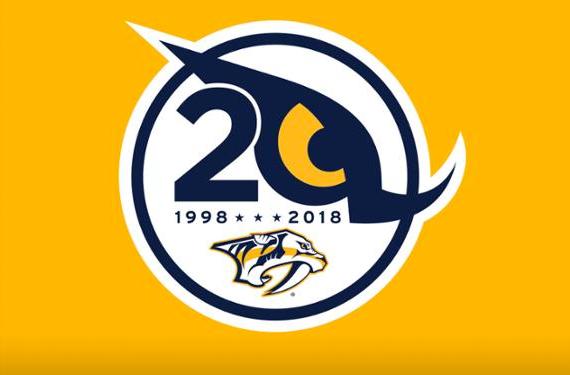 Nashville Predators Unveil 20th Season Logo