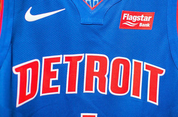 Pistons Add Ad, Detroit Jerseys to Feature Bank Logo