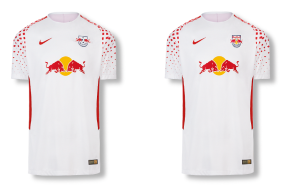 RB Leipzig and RB Salzburg have been outfitted in same exact kit