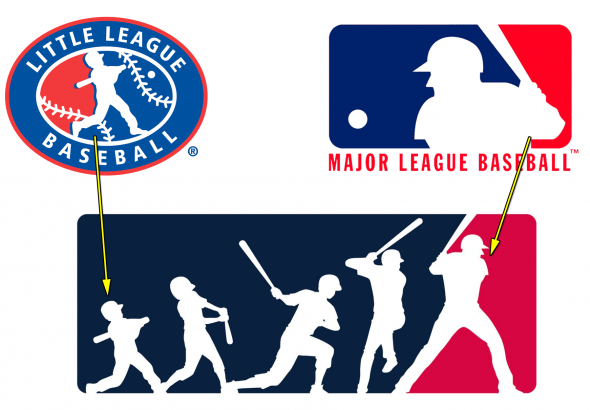 """650d3b2ab The """"Evolution Logo"""" shows a player s journey from Little League to the  Majors. """""""