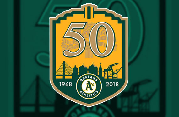 Oakland Athletics Announce Anniversary Patch for 2018