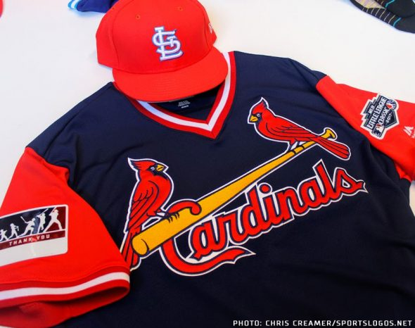 16f87c42c Cardinals Players Weekend jersey with 2017 Little League Classic patch  (patch only worn for STL-PIT game in Williamsport on Aug 20)