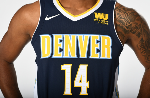 2bedc8c511e Denver Nuggets switch to navy with new uniforms