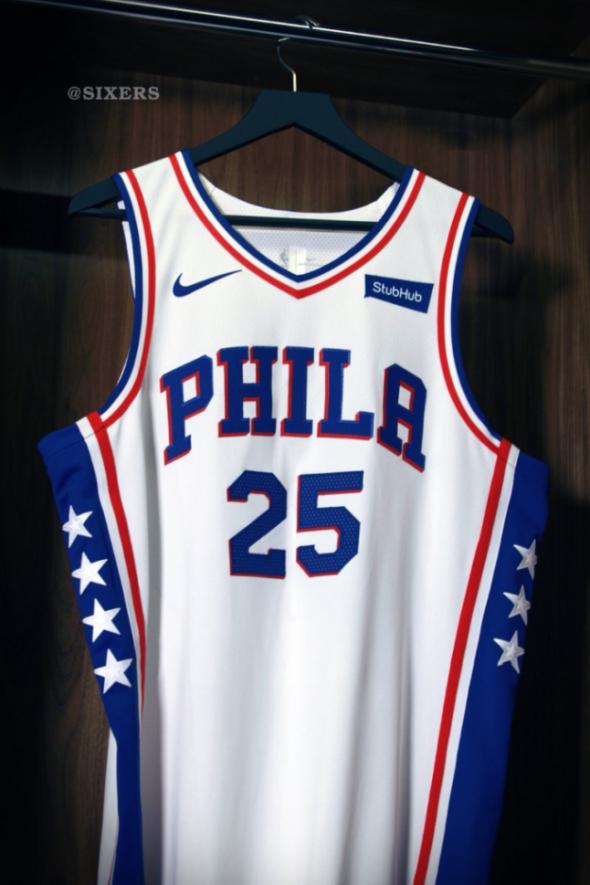 finest selection de8d3 417c8 Philadelphia 76ers unveil new uniforms and Denver Nuggets ...