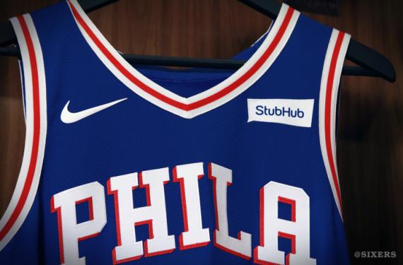 41a3ad770cd4 Philadelphia 76ers unveil new uniforms and Denver Nuggets announce new  sponsor