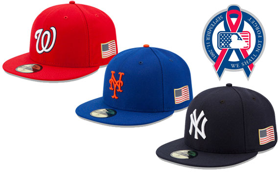 Flag Patches on Caps Across Baseball for 9 11  178f26f41d8e