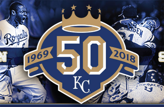 Royals commemorate 50th season with special logo