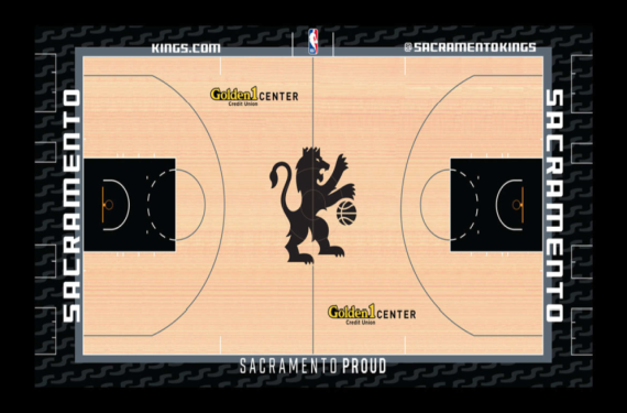 Sacramento Kings unveil new black alternative court design