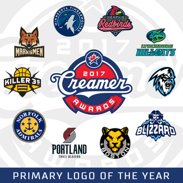 Nba Logos 2017 >> The 2017 Creamer Awards Winners Best New Sports Logos Of