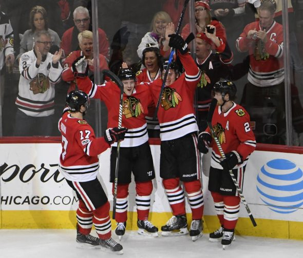 The Chicago Blackhawks uniform was voted greatest NHL uniform of all-time (Photo: © David Banks-USA TODAY Sports)