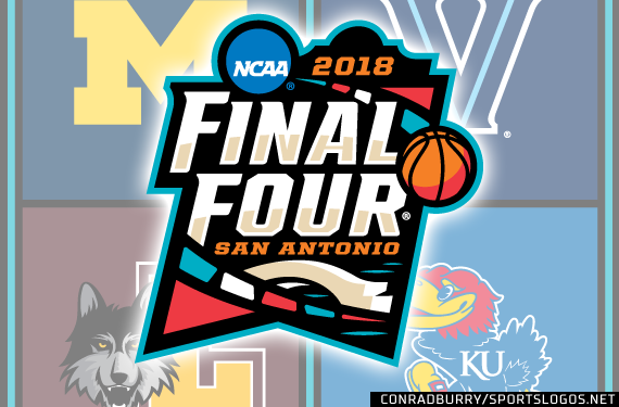 2018 NCAA Tournament Final Four Logo Court Bracket
