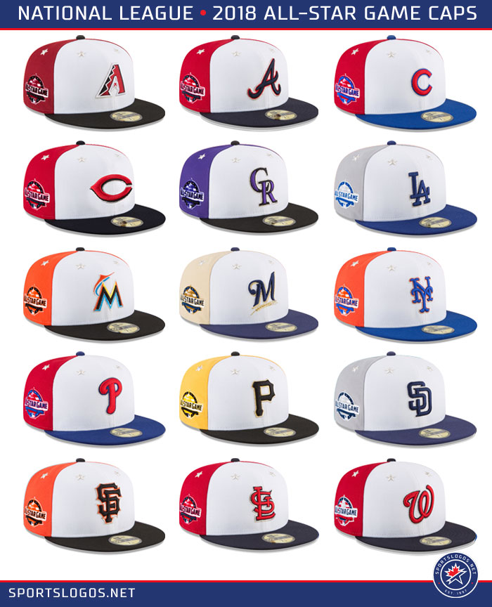 d905211fffd 2018 MLB All Star Game Caps – National League