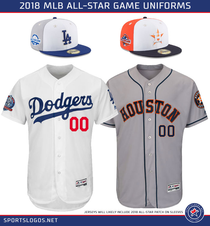 2018 mlb all star game uniforms dodgers astros